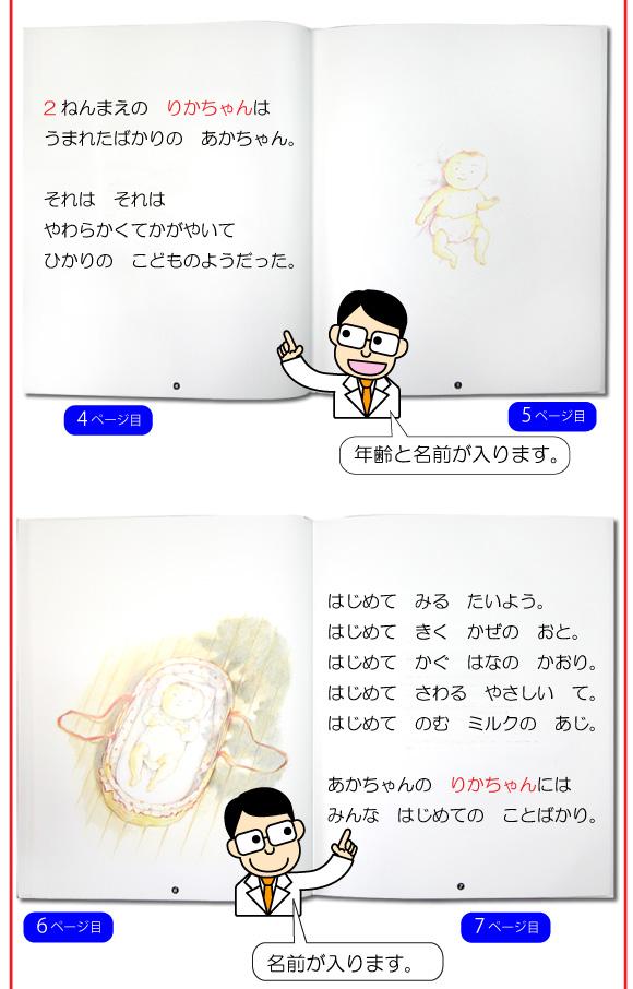絵本の6ページ