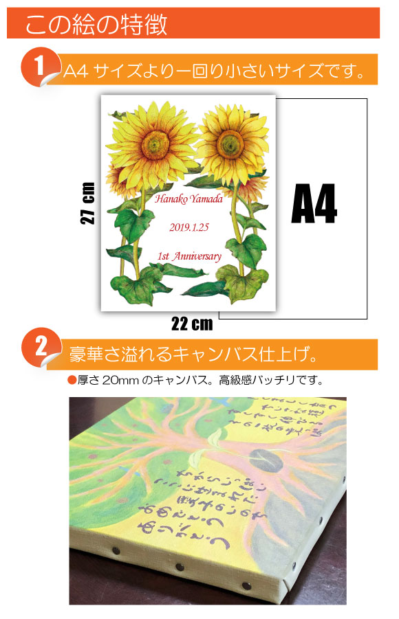 8月の記念日に贈るオリジナル絵画「8月の記念日の花」