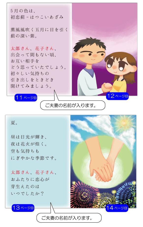 13ページ目の文章例:出会って間もない頃、お互い相手をどう思っていたでしょう