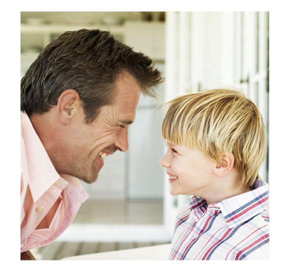 お子様とお父様を表現するイメージ