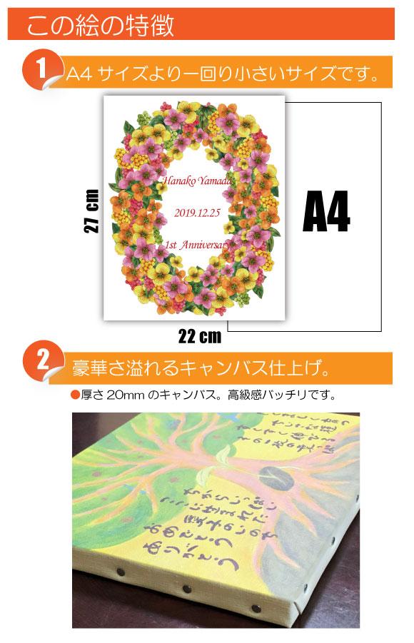 12月の記念日に贈るオリジナル絵画「12月の記念日の花」