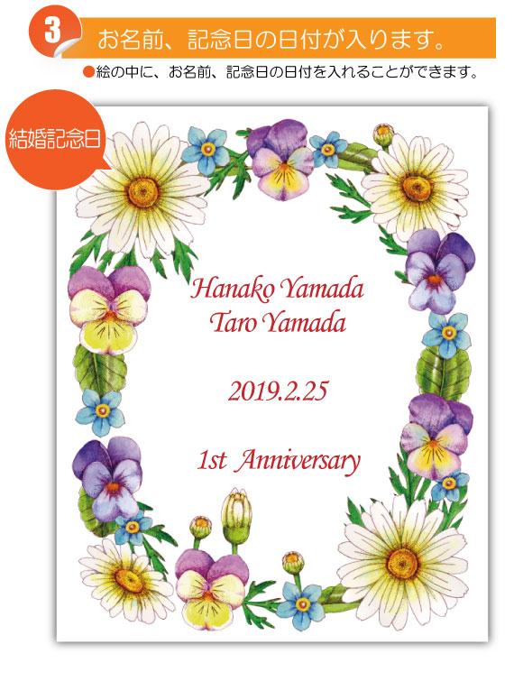 2月の記念日に贈るオリジナル絵画「2月の記念日の花」