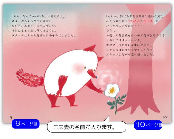 15ページ目の文章例:お祝いの花言葉をあつめて花束を贈ろう