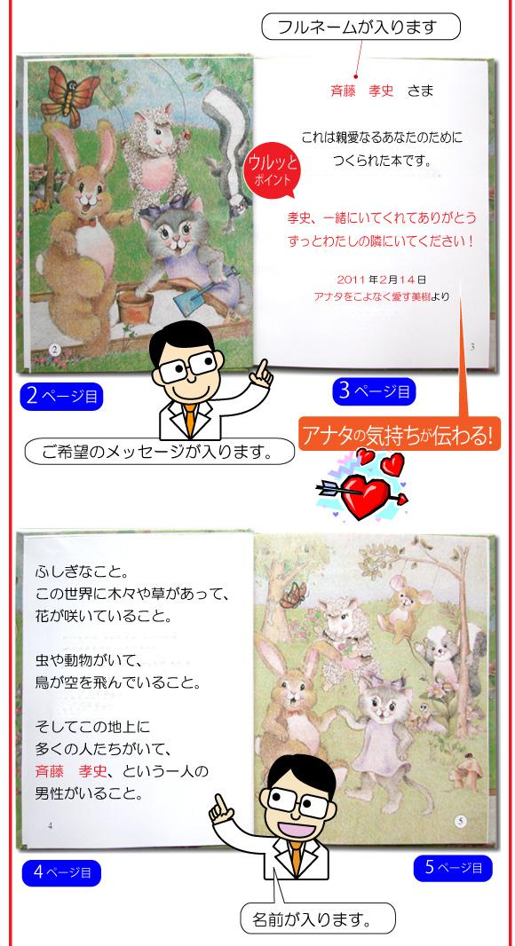 通販で人気の手作り絵本「神様の贈り物」の6ページ