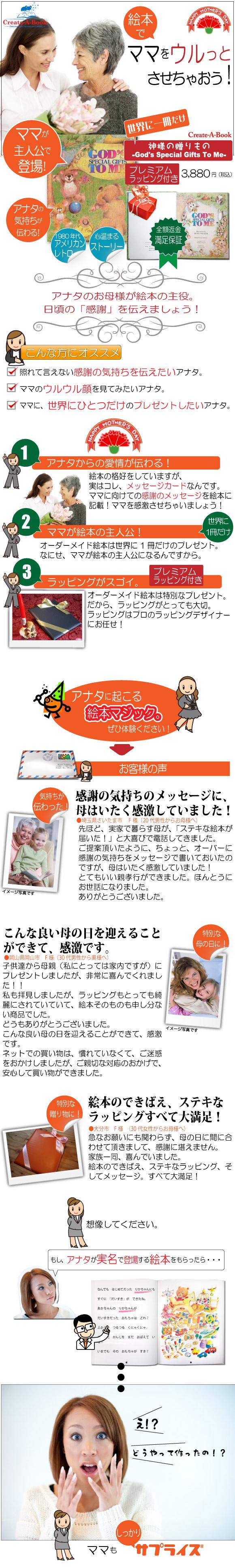 母親の誕生日プレゼントのオーダーメイド絵本の紹介
