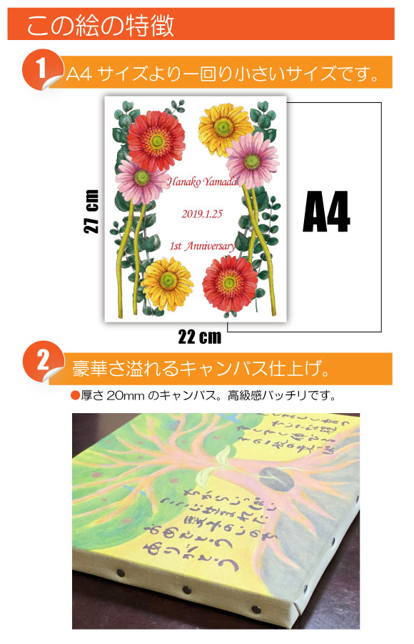 10月の記念日に贈るオリジナル絵画「10月の記念日の花」