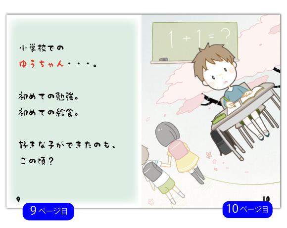 13ページ目の文章例:誕生日には、もうひとつ、大切な意味があります。それは、この日に、お母さんが産んでくれた日ということ