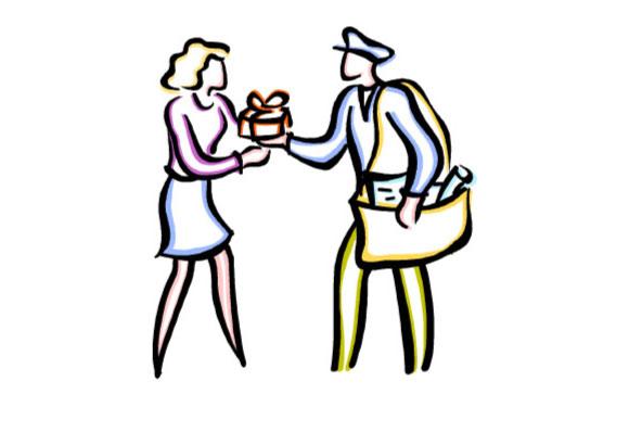 郵便局の人を表現するイメージ