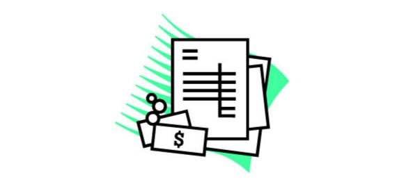 請求書を表現するイメージ
